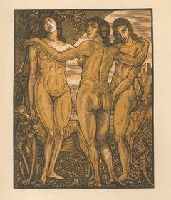 Les Femmes de ce Temps - Original Etching by Louis Jou - 1925