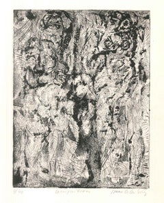 Composition - Original Etching by I. Celnikier - Late 20th Century
