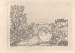 Ponte di Mammea (today Ponte Mammolo) - Original Etching by A. Acquaroni - 1836