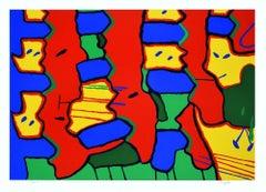 Tetris - Original Screen Print by E. Coppola - 1973