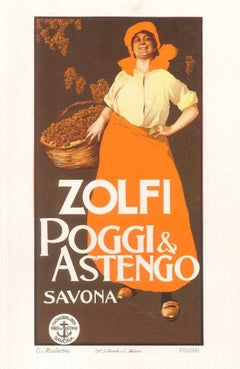 Zolfi - Original Advertising Lithograph by G. E. Malerba - 1905 ca.