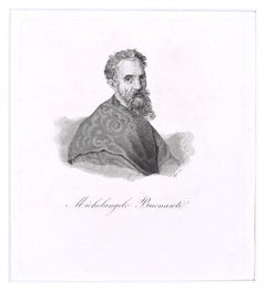 Michelangelo Buonarroti - Original Etching by G. Lepri - 1810 ca.
