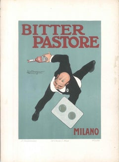 Bitter Pastore - Original Advertising Lithograph by L. Caldanzano - 1910