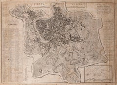 Map Of Rome - Original Etching by Luigi Nicoletti - 1835