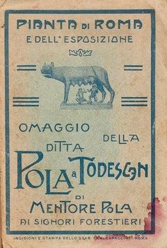 Pianta Di Roma e Dell'Esposizione - Original Etching by Ludovico Beranger - 1911