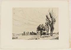Oberbayrische Landstrasse - Original Etching by H. Reifferscheid - 1904