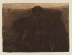 Rubenarbeiterinnen (Ruben Workers) - Original Mezzontint by L. Von Kelckreuth