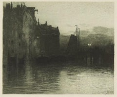 Dordrecht - Original Etching by Hans Herrmann - 1904/5