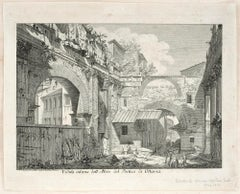 La Veduta interna dell'Atrio del Portico d'Ottavia - Etching After G.B. Piranesi