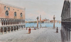 Venice, Piazza San Marco - Original Watercolor by A. Guidotti