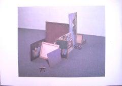 Still Life - Original Screen Print by Corrado Levi - 1985