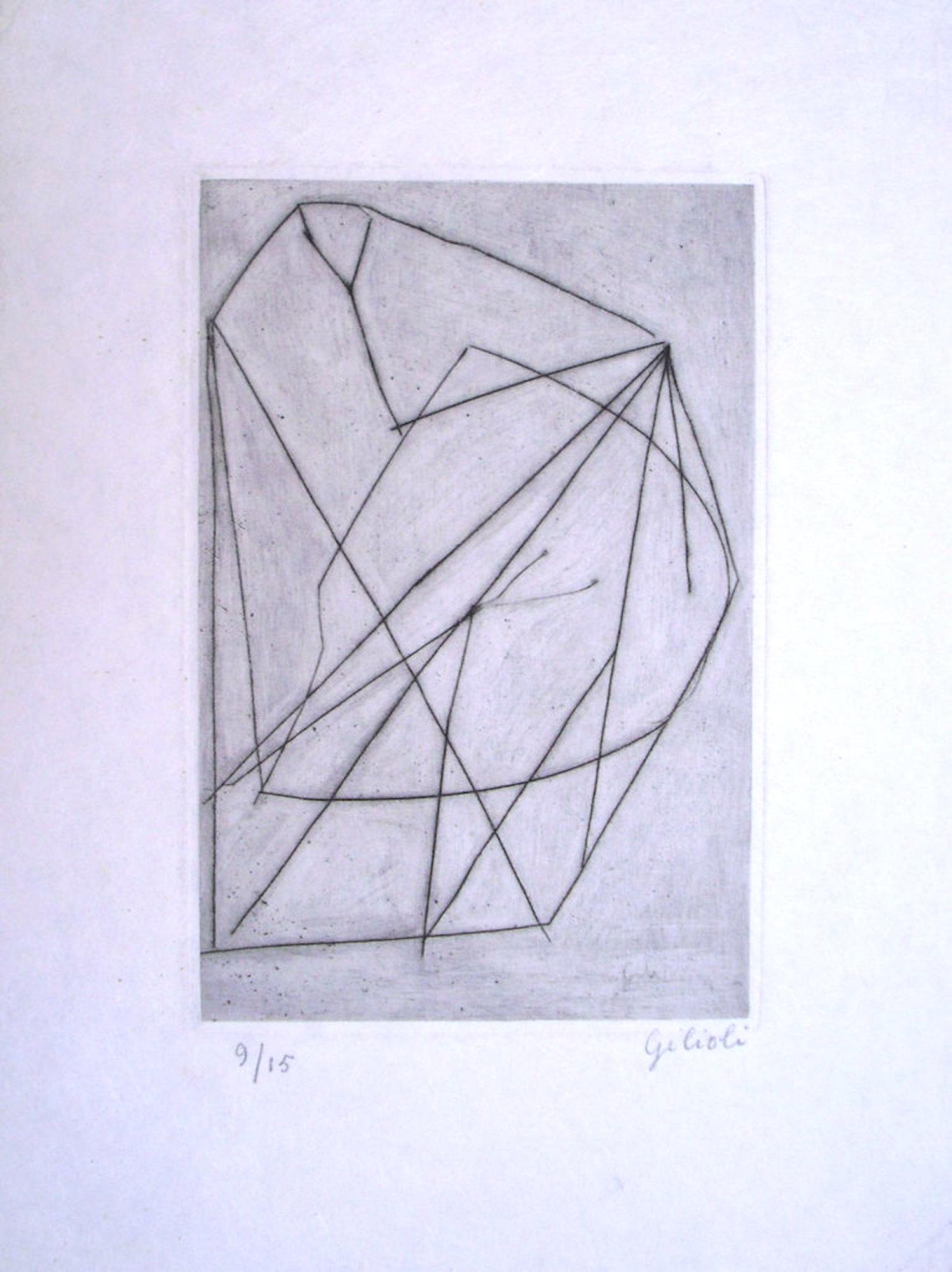 Untitled . Original Etching by Emile Gilioli - Mid 20th Century