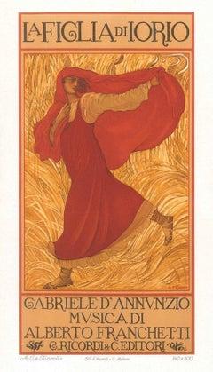 La Figlia di Iorio - Original Color Lithograph by A. De Carolis - 1906