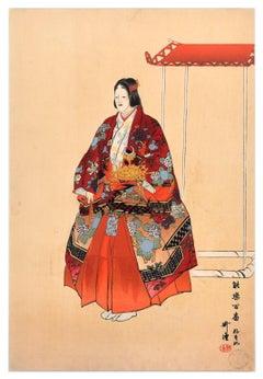 Yokihi - Original Woodcut Print by Tsukioka Kôgyo - 1923
