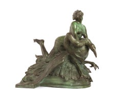 The Nymph of the Lakes - Original Bronze Sculpture by Mario Rutelli - 1901