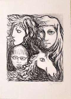 Untitled - Original Lithograph by Carlo Levi - 1971