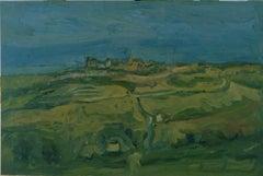 Marche Landscape - Original Oil on Canvas by A. Ciarrocchi - 1950 ca.