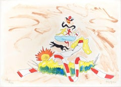 The Adventures of Pinocchio - Original Litho Reotuché by Fredy Lapenna -  1990s