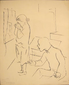 Without Results - China Ink Drawing on Paper by G. Grosz - 1925