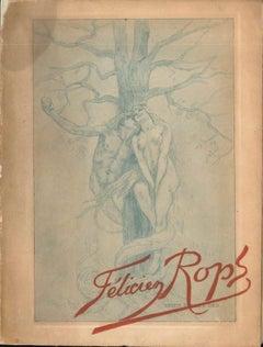 Félicien Rops - Rare Vintage Book - 1905