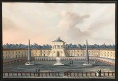 View of Odessa - Original Tempera on Paper by C. Bossoli  - Mid 19th Century