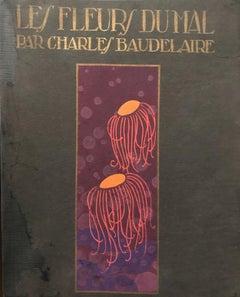Les Fleurs du Mal de Baudelaire - Original Illustrations by A. Domin - 1920