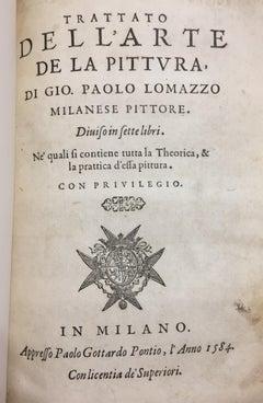 Trattato dell'Arte della Pitture, di Gio. Paolo Lomazzo Milanese Pittore - 1584