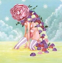 Glinda Struggles Onwars - Original Acrylic and Pastel on Board - 2010s
