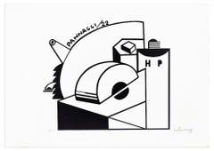 Mechanical Composition - Original Lithograph by Ivo Pannaggi - 1975 ca.