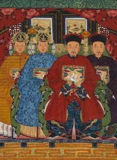 Ancestors - Original China Ink and Tempera on Paper - China Early 20th Century