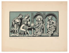 Adoration des Mages - Original Woodcut Print by I. Sage - 1926