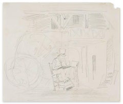 Drawing Artist - Original Pencil Drawing by L.E. Adan - Early 1900