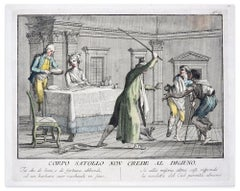 Corpo Satollo on Crede al Digiuno - Hand Colored Etching by C. Lasinio - 1788