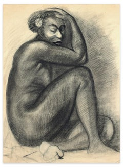 Studies for Portraits - Charcoal Drawings on Ivory Paper - 20th Century