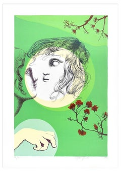 The Absent - Original Lithograph by Stefania Guidi - 1993