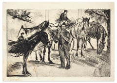Il Barocciaio - Original Etching and Drypoint by A. Checchi - 1939