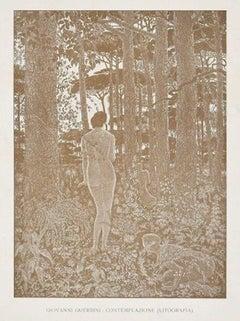 Contemplation - Original lithograph by G. Guerrini - 1914/15