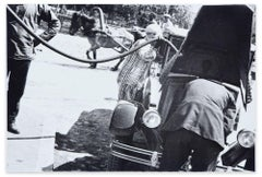 At the Petrol Station - Original Vintage Silver Salt Photograph by A. Rodcenko
