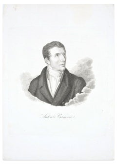Antonio Canova - Original Etching by G.E. Morghen - Late 18th Century