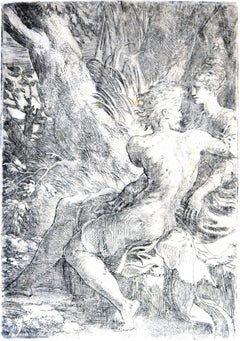 The Lovers - Original Etching by Parmigianino - 1527/30