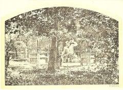 Garden - Lithograph by M. Calderini - 1880 ca.