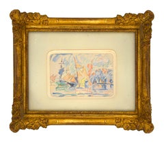 Saint Tropez - Original Watercolor Drawing by Paul Signac - 1900 ca.