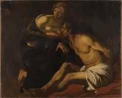 Roman Charity - Oil on Canvas After Dirck van Baburen