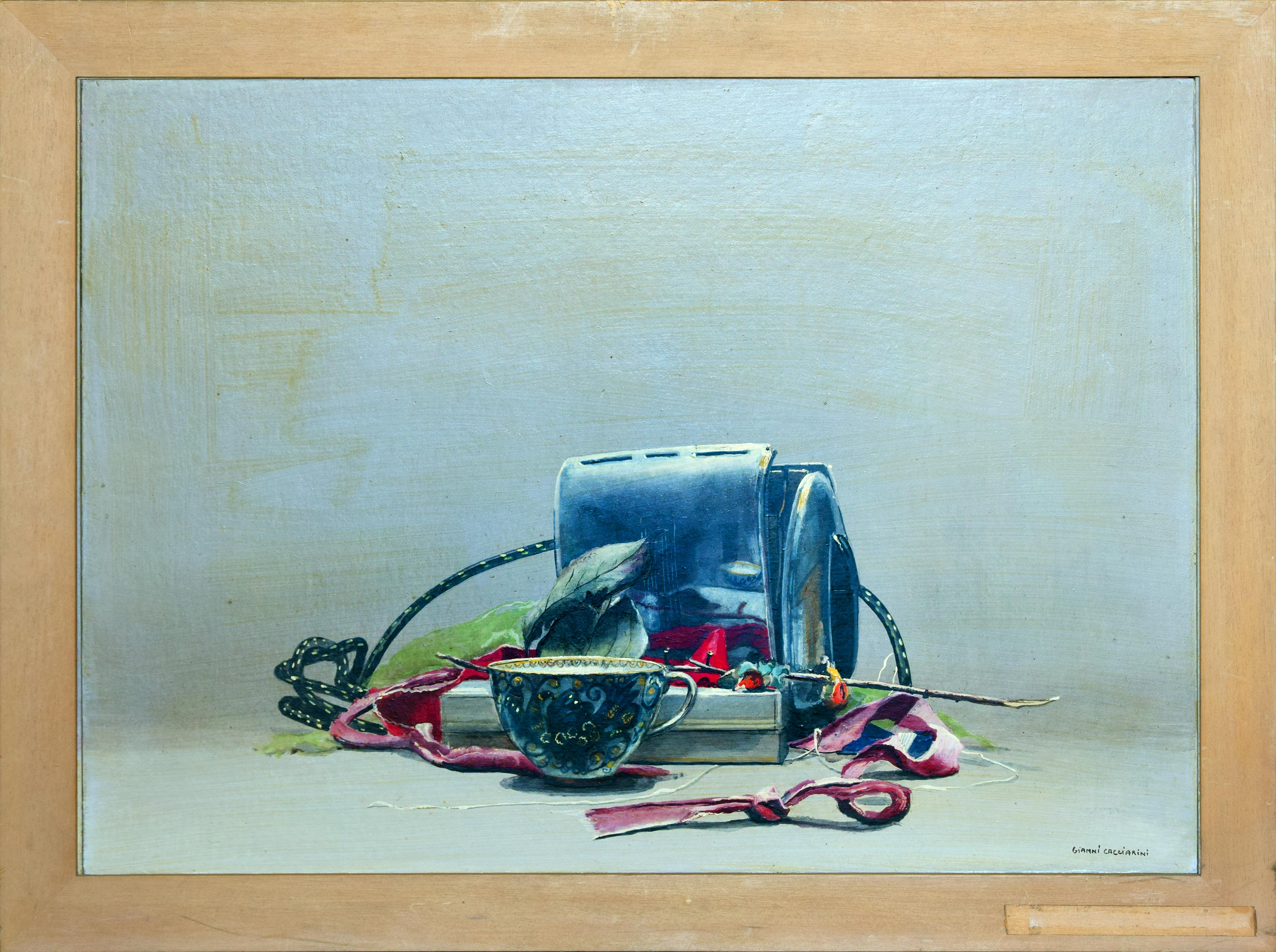The Toaster  - Original Oil and Tempera on Wood - 1991