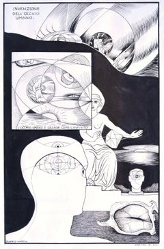 Invention of the Human Eye - Original China Ink on Paper by A. Martini - 1935
