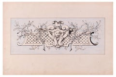 Panel with Head - Original Lithograph on Paper by A. Moreau-Neret - Early 1900