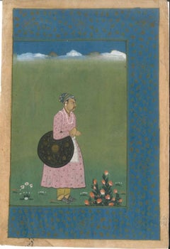 Ancient Persian Miniature: The Beauty of Youth - Probably 18/19th Century