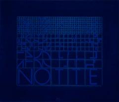 Notte (Night) - Original Screen Print by Bruno di Bello - 1980 ca.