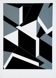 Geometry - Original Screen Print by N. Frascà - 1975