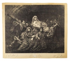 Exodus - Original Lithograph nu H. de Groux - Late 19th Century